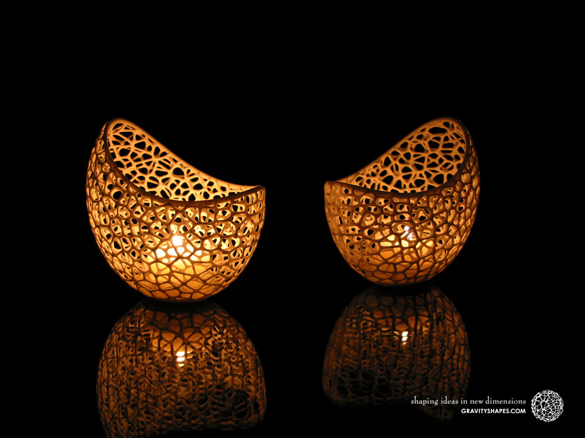 Filigree double wall tealight holders