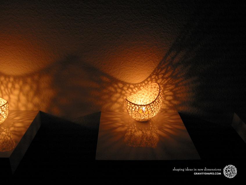 Filigree double wall tealight holder