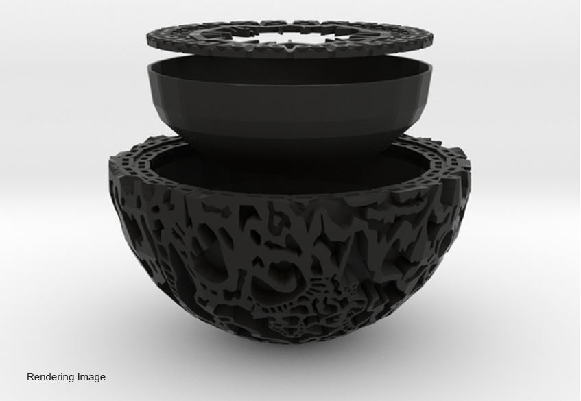Rendering of the Guardians of the Galaxy Plant Pot