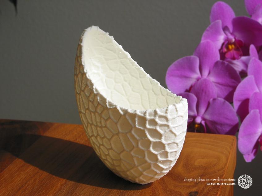 Organic flower pots / Voronoi Vase in PLA (12 cm)