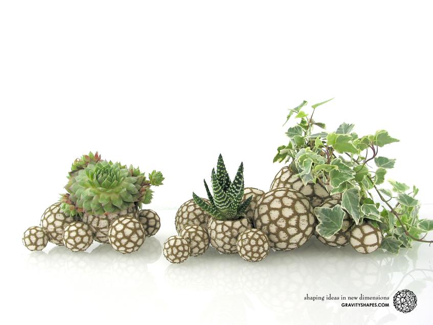 Organic stone pots – Landscape builder (2-color)