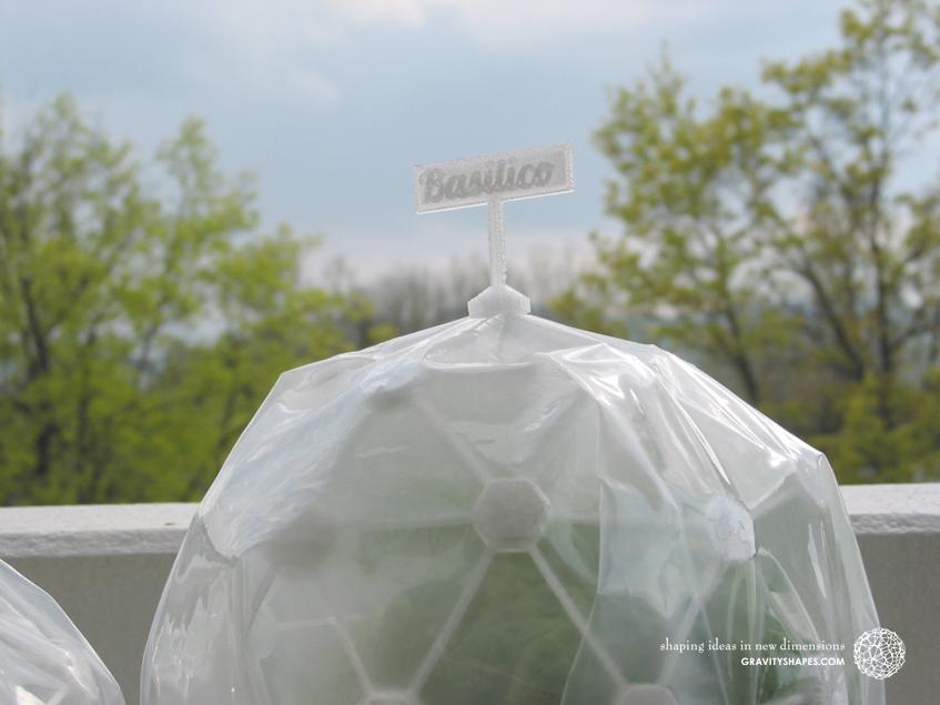 Flexible Mini Greenhouse-Dome with sign