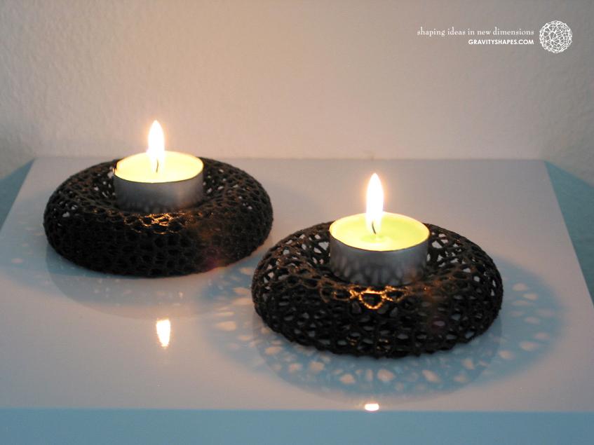 Tealight holder – Voronoi-Style #10 & #11