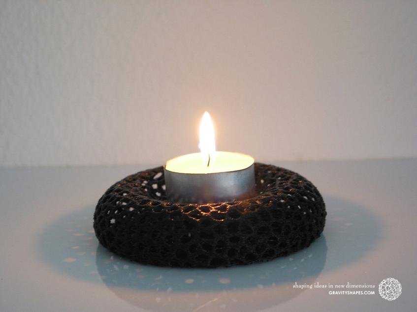 Tealight holder – Voronoi-Style #10