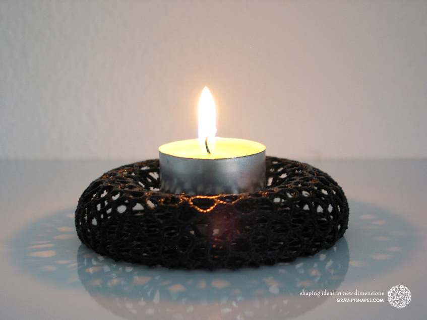 Tealight holder – Voronoi-Style #11
