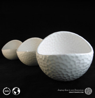Porcelain Plant-pots in Golfball-Look (small, large and XL)