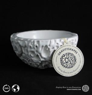 Galaxy Porcelain Pot (12 cm, white)