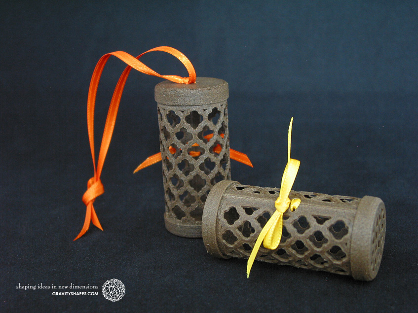 Wooden gift rolls with oriental patterns