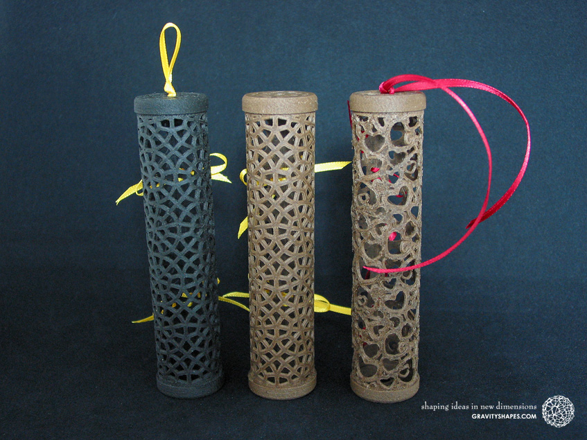 Wooden gift rolls large in various patterns