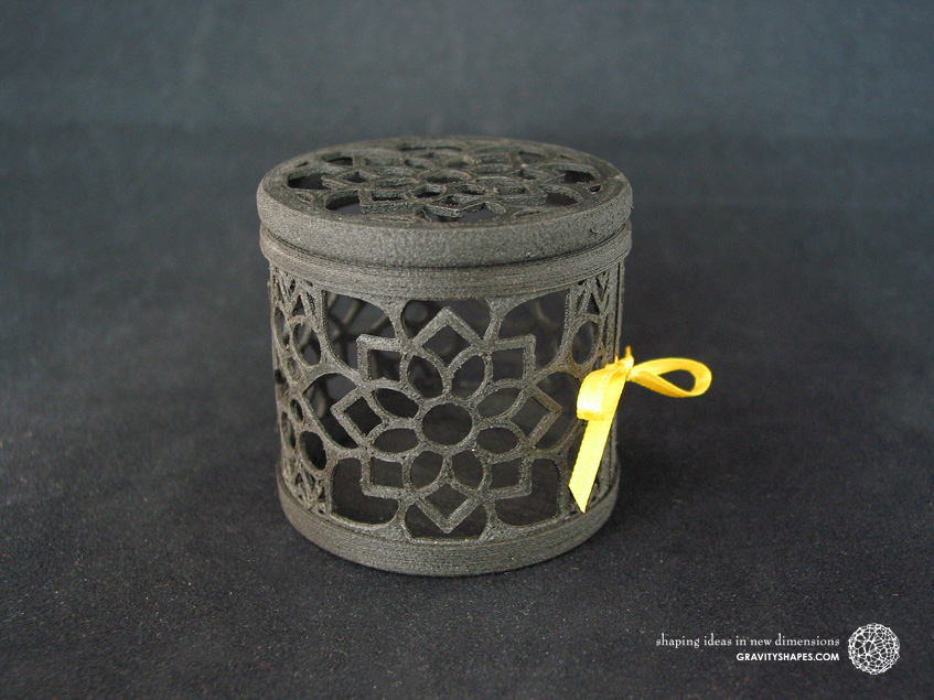 Black wooden gift box No. 116 with mosaic no. 2