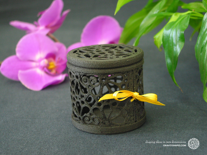 Black wooden gift box No. 116 with mosaic no. 3