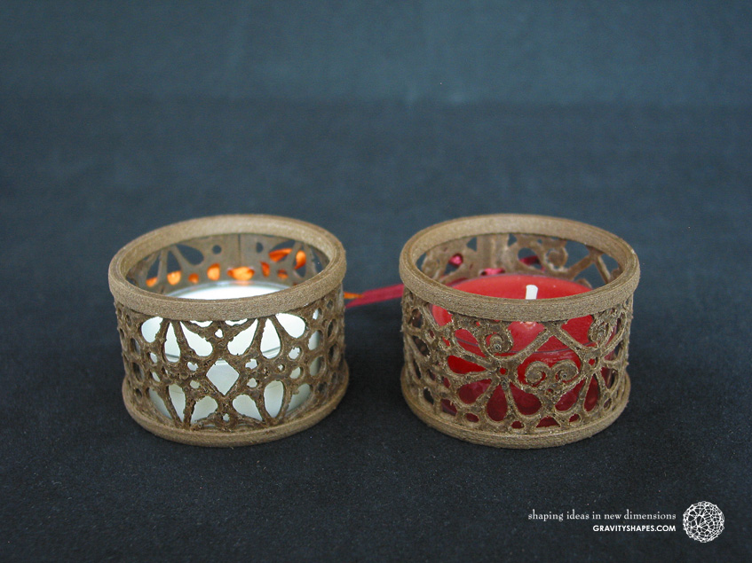 Mini tealight holders, laced
