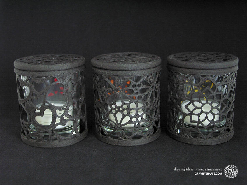 Three tealight boxes from the current wood collection