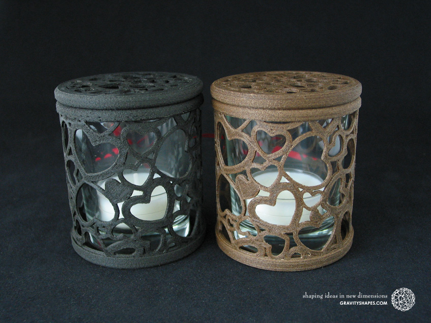 Large tealight boxes in black and brown
