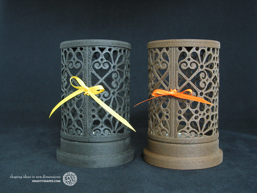 Wooden laced smoking cone towers (black and brown)