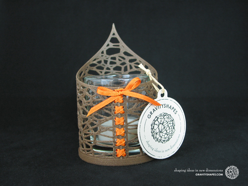 Pointed Tealight holder  with tealight (Voronoi no. 1)