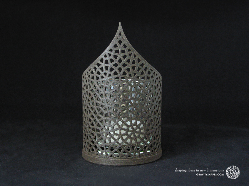 Pointed tealight holders – Mosaic No. 1 (Wood 3D print)