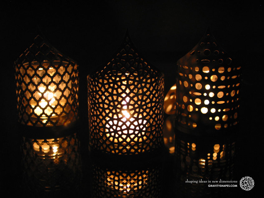 Pointed tealight holders – Culture Edition No. 2 (Wood 3D prints)