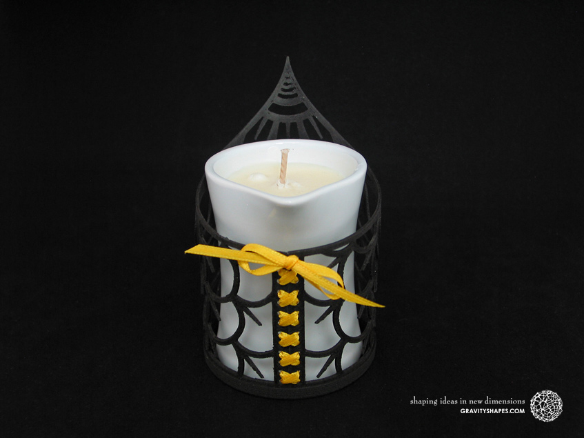 Tealight holder with Petits Joujoux massage scented candle in porcelain container (Yoga)