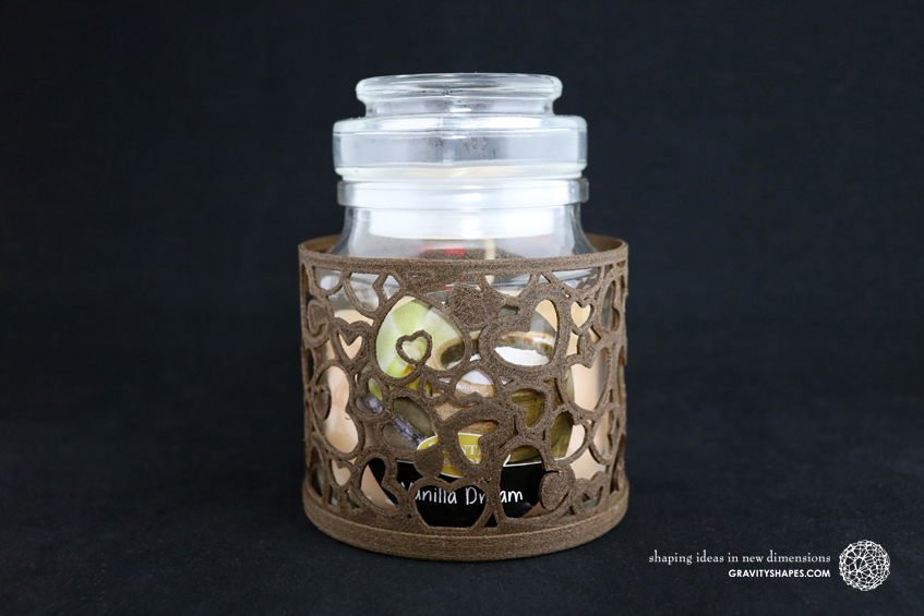 Duftkerzenglashalter mit Duftkerzenglas (brown)