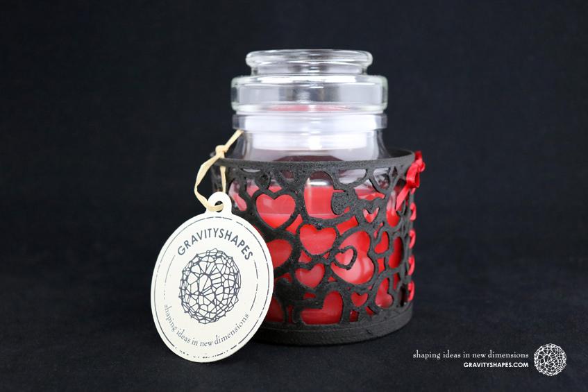 Duftkerzenglashalter mit Duftkerzenglas (black)
